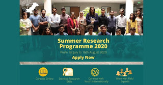 YCR Virtual Summer Research Programme 2020
