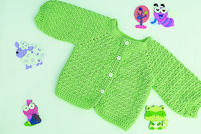 5 - Crochet Imagen Chaqueta a crochet con puntada de arroz muy fácil y sencillo por Majovel Crochet