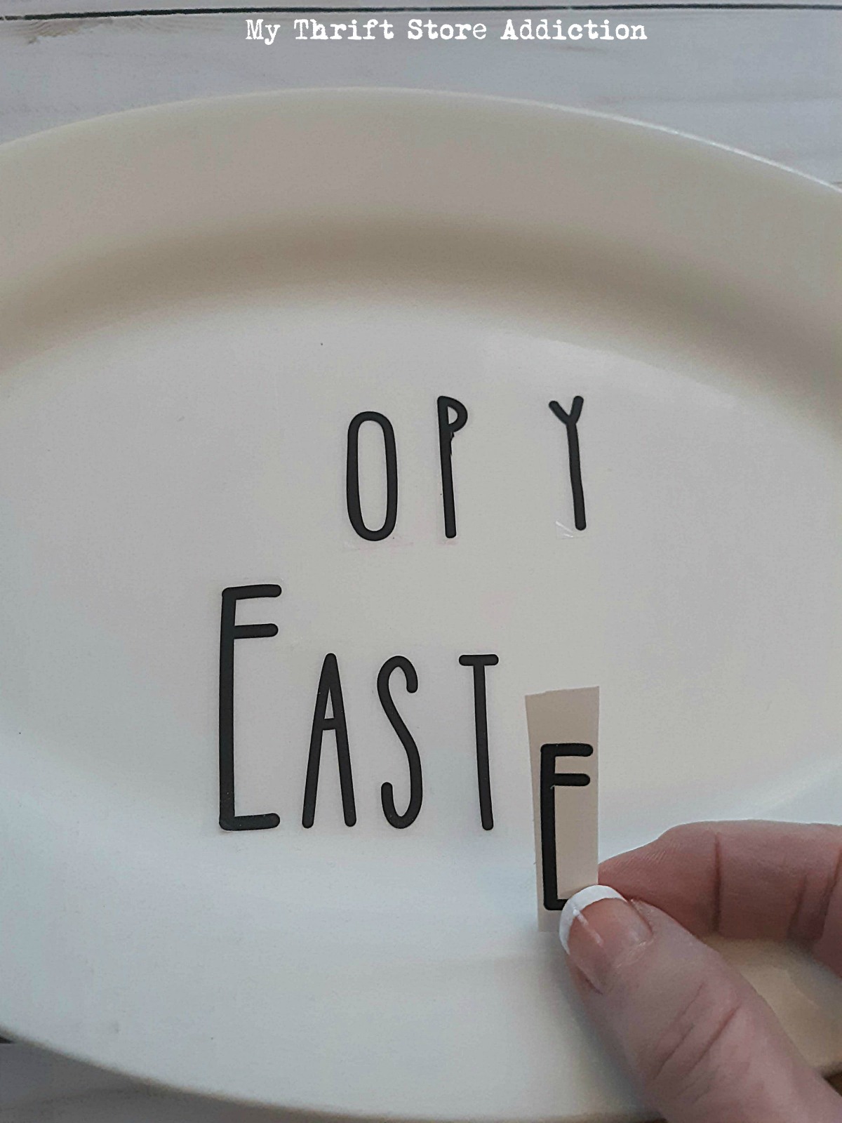 upcycled Easter sign