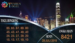 Prediksi Togel Angka Hongkong Senin 29 Juli 2019