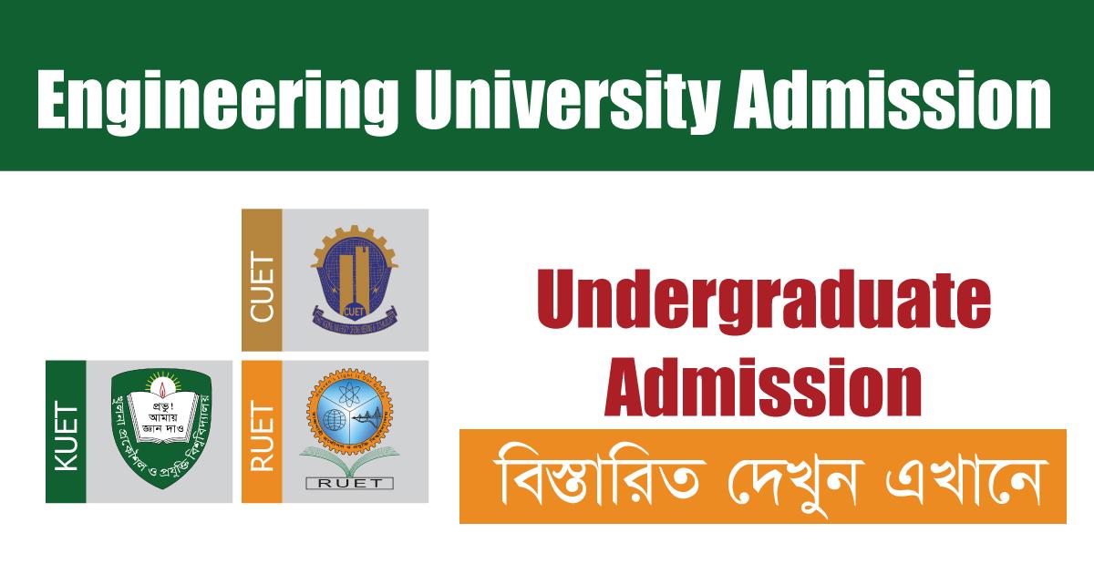 Engineering University Admission Circular 2020-21