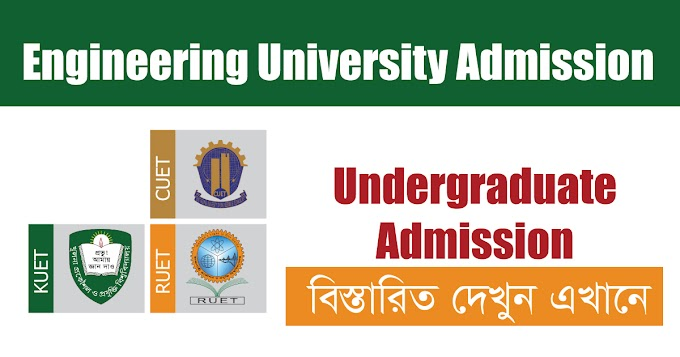 Engineering University Admission Circular 2020-21