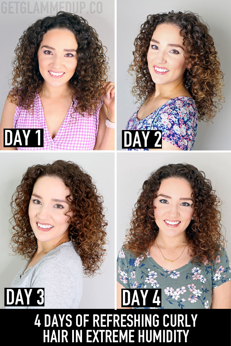 4 Days of Refreshing Frizzy Curly Hair in Extreme Humidity