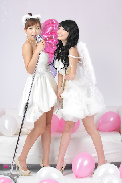 3 Kim In Ae and Mina – White Dresses - very cute asian girl-girlcute4u.blogspot.com