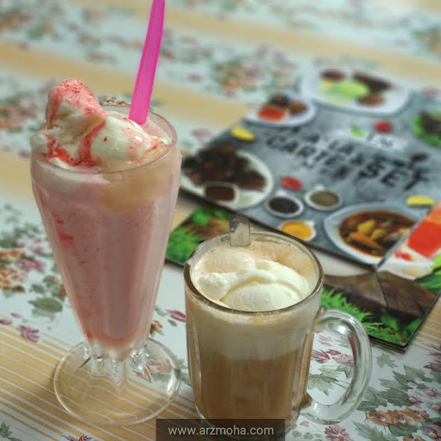 Teh Tarik float di Cameron Highlands, tempat makan wajib dikunjungi di Cameron Highlands, steamboat & grill Cameron Highlands, Serunding Strawberi,