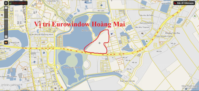 Vị trí Eurowindow Hoàng Mai.