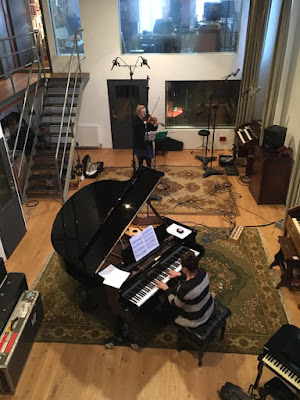 Recording session for Last Song (Photo Dan Shores)