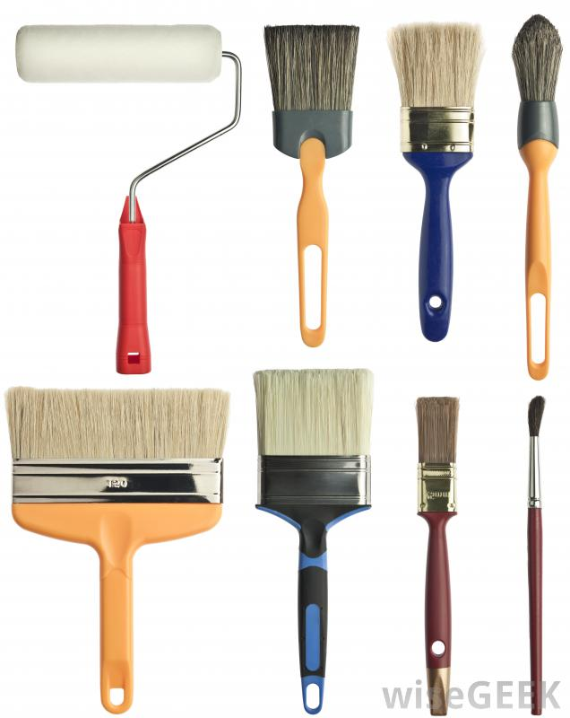Different Types Of Paint Brushes Coloring Pic