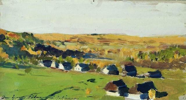 Исаак Ильич Левитан - Осенний пейзаж. Деревня