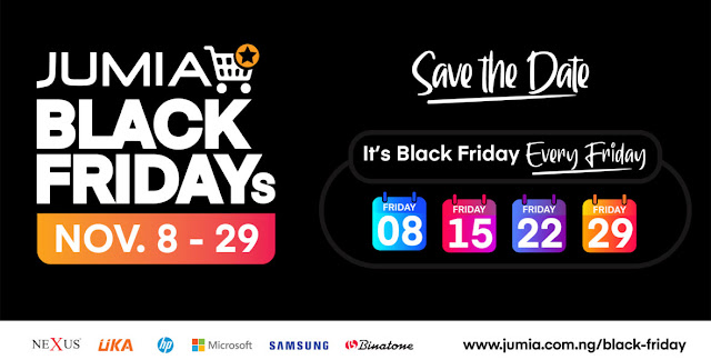 Jumia Black Friday starts on the 8th of November, which also happens to be the first Friday of November.