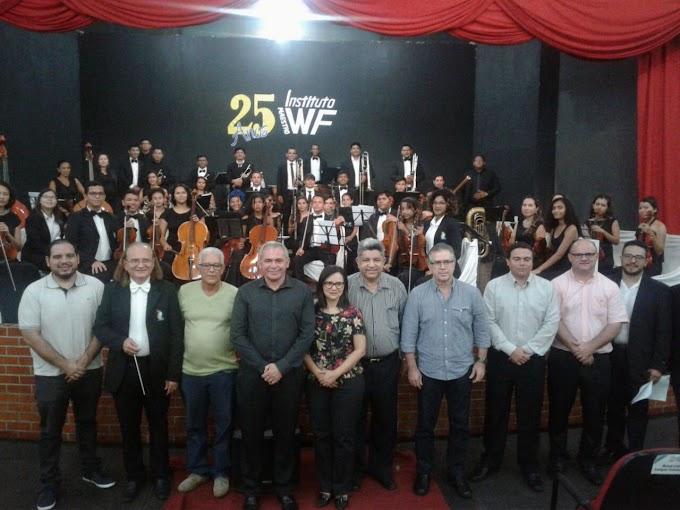 Emoção no anúncio ao ganhador do Celpa Desenvolvimento Social a uma das mais importantes Orquestra do Pará