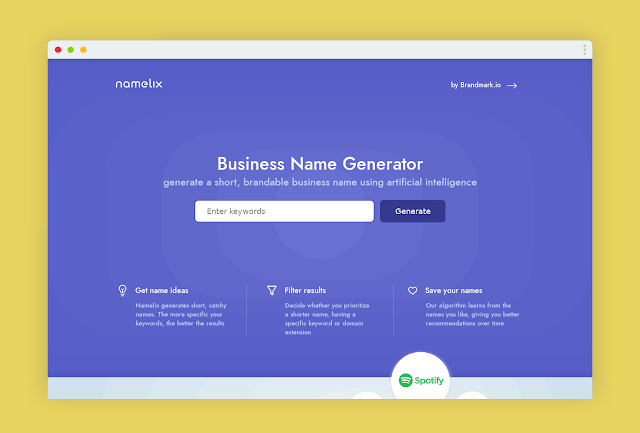 Get a Brandable Business Name using AI for FREE
