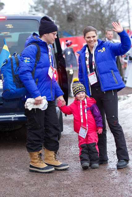 Prince Daniel of Sweden, Princess Estelle of Sweden, Crown Princess Victoria of Sweden and Crown Princess Mette-Marit of Norway, Princess Ingrid Alexandra of Norway and Crown Prince Haakon of Norway