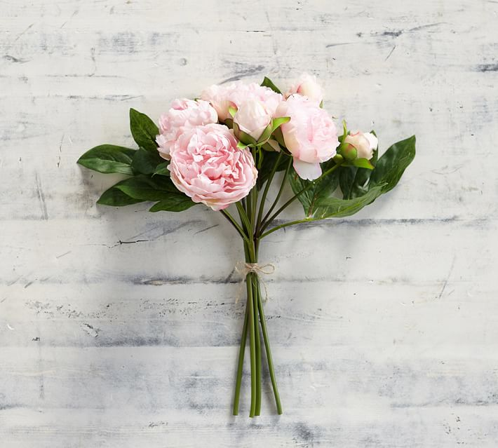 pink faux peony bouquet