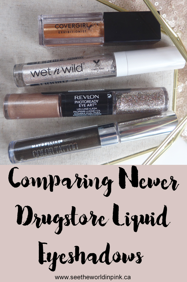 Battle of the Newer Drugstore Liquid Eyeshadows - Try-ons, Swatches and Thoughts