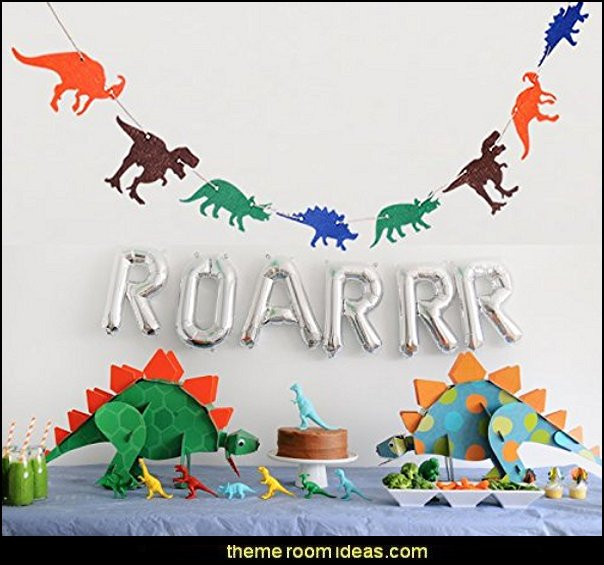Dinosaurs Birthday Banner Decorations Party Supplies Pennant for Boys Kids