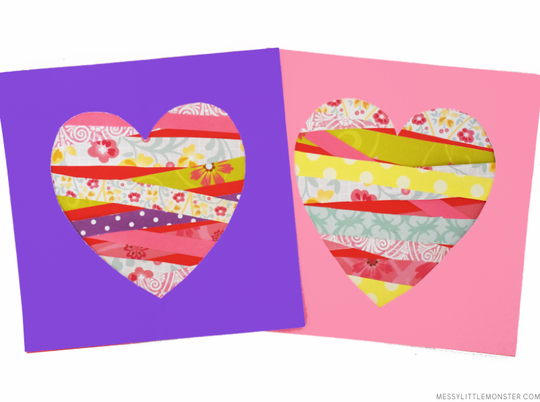 Paper Heart Craft Mother's Day card for kids to make