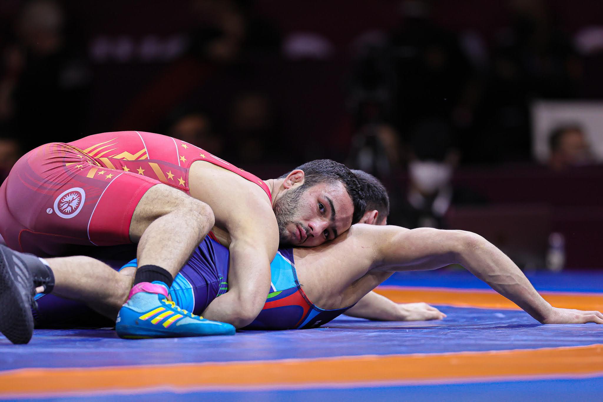 Greek-roman wrestling Chunayev Parviz Nasibov domination tokyo 2020 top