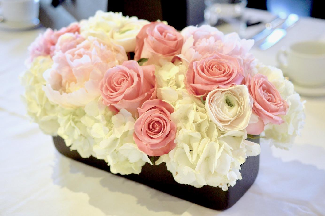 Pink White Flower Arrangement