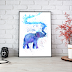 ⇢ Silhouette Elephant Watercolor