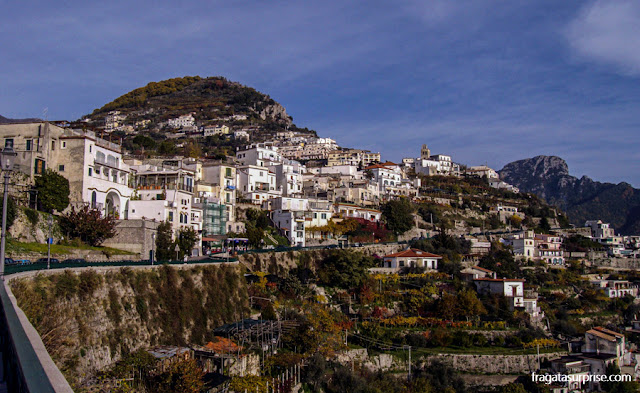 Estrada para Ravello, na Costa Amalfitana