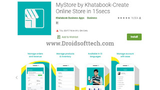Mystore App in Google Playstore