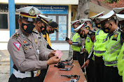 Satlantas Polres Bojonegoro Gelar Apel Kesiapan Pengamanan Long Weekend