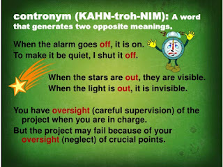 CONTRONYM: Did you know a word can be its own opposite? Find out!