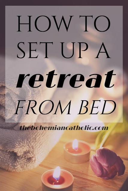 bohemian catholic pinterest pin spa day retreat from bed