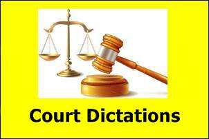 Daily Court Dictations & Outlines September 2021