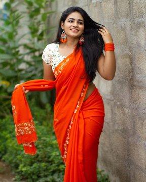 Shruthi Selvam Latest Saree Photos
