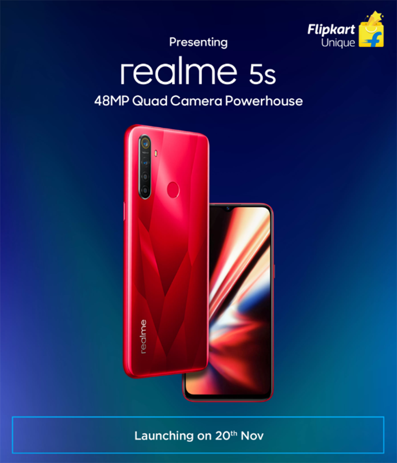 Realme 5s with 48MP quad-camera to launch on November 20!