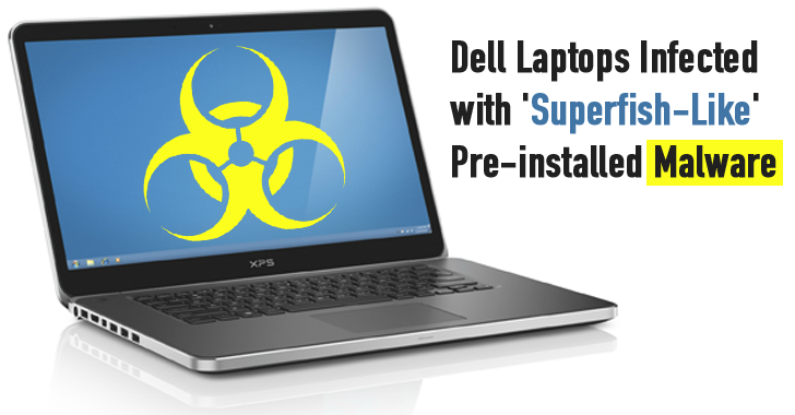 Dell's Laptops are Infected with 'Superfish-Like' pre-installed Malware