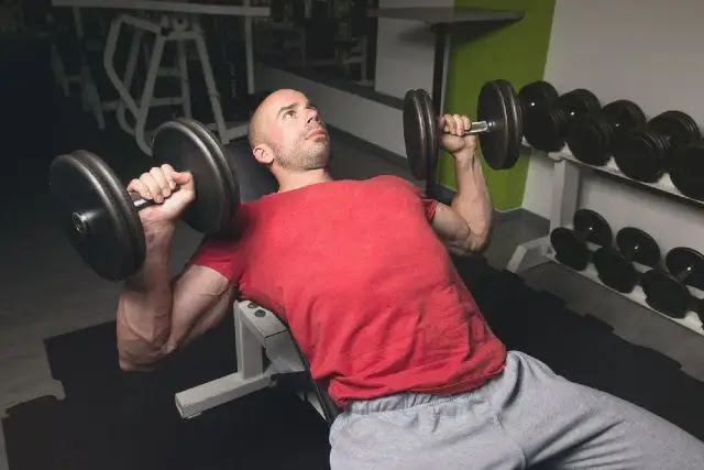 Incline Dumbbell Press image