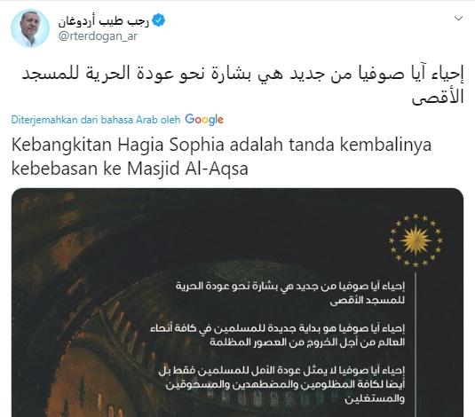 Erdogan Akan Bebaskan Masjid Al Aqsa