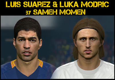 PES 2016 Suarez & Modric faces by Sameh Momen