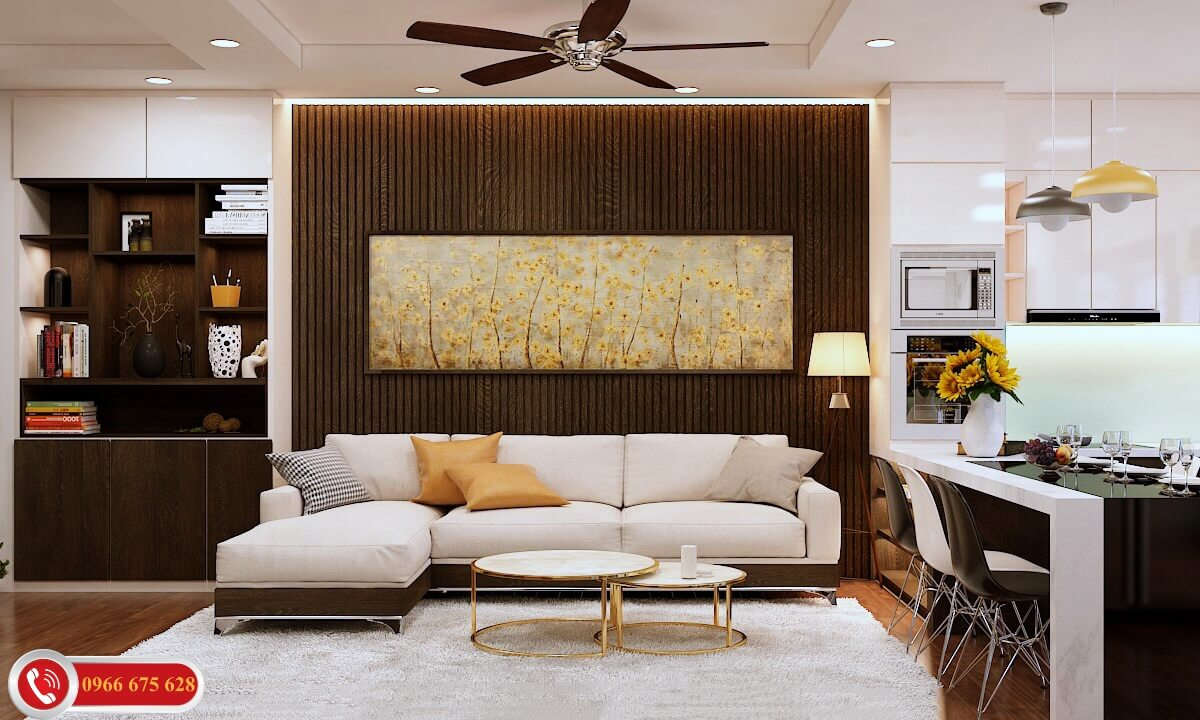 Phòng khách căn hộ cao cấp chung cư 622 Minh Khai