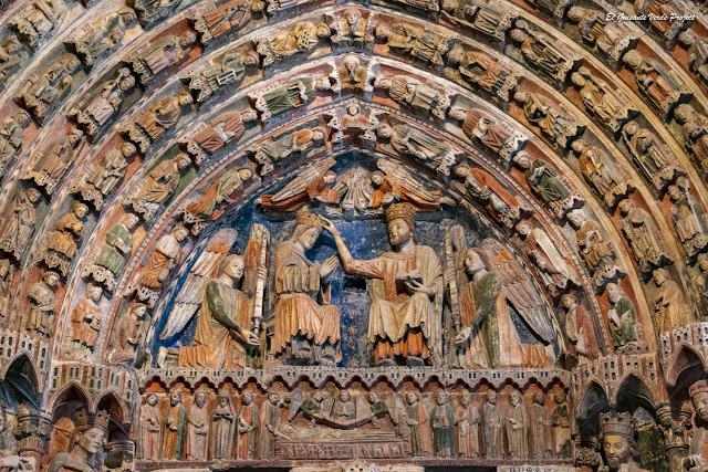 Coronación de la Virgen, Portada de la Majestad de la Colegiata de Santa María - Toro