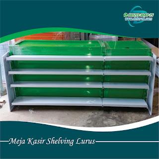 meja kasir hijau putih murah bali