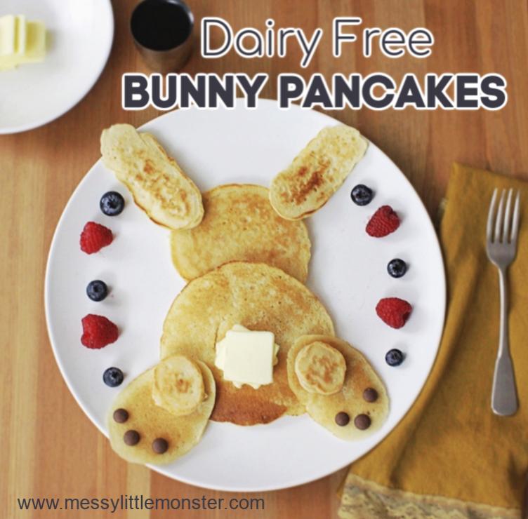 Dairy Free Bunny Pancakes Recipe