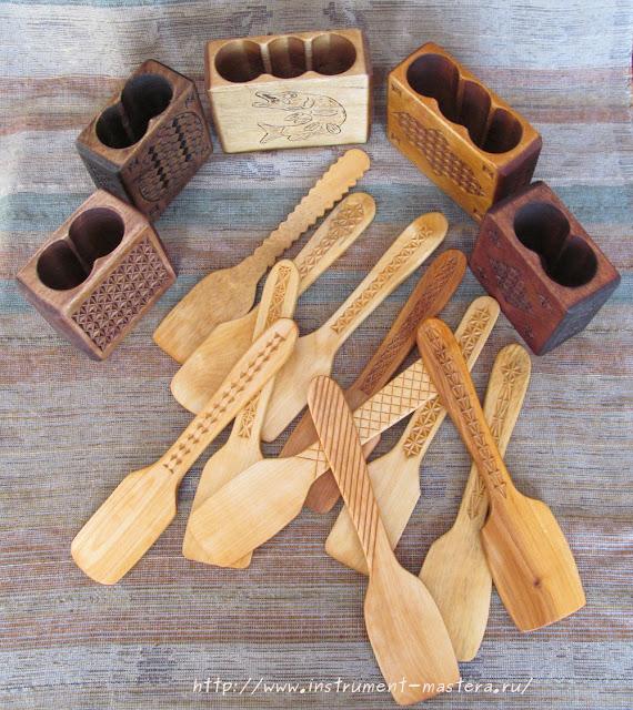 деревянные лопаточки