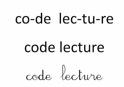Apprentissage de la lecture, code de lecture