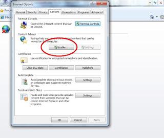 internet explorer how to block website