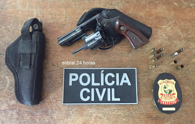 POLÍCIA CIVIL DE SOBRAL APREENDE ARMA DE FOGO E MUNIÇÕES