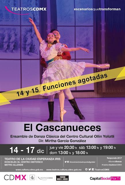 Se presenta El Cascanueces en el Teatro de la Ciudad Esperanza Iris hasta el 17 de diciembre
