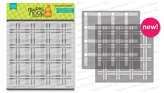 Plaid Stencil Set by Newton's Nook Designs #newtonsnook #handmade