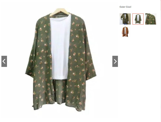 baju gisel atau kimono gisel viral dijual di online shop