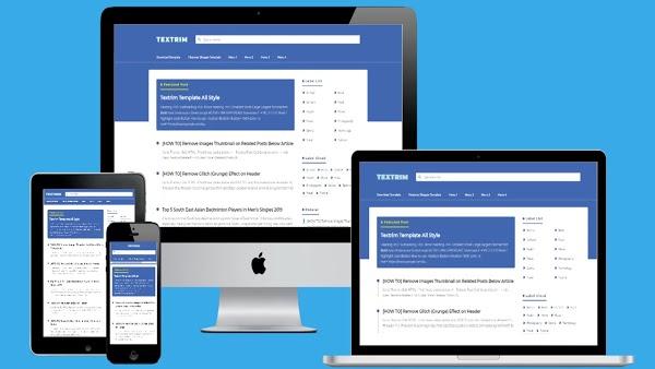 Textrim v3 No Image Home Blogger Template