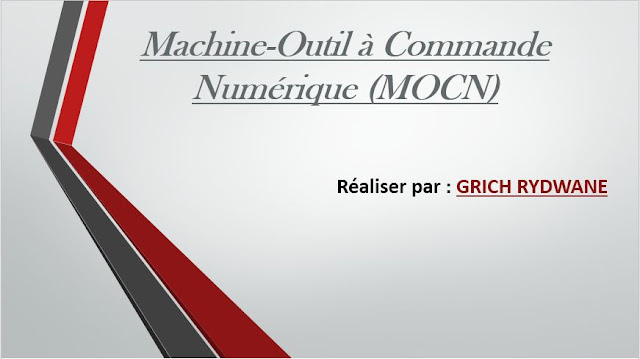 Cours Machine-Outil à Commande Numérique (MOCN)