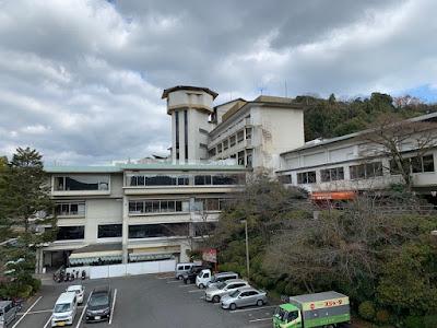 バスセンター展望台から見た岩国国際観光ホテル